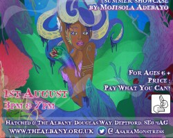Asara and The Sea Monstress By Mojisola Adebayo e-Flyer